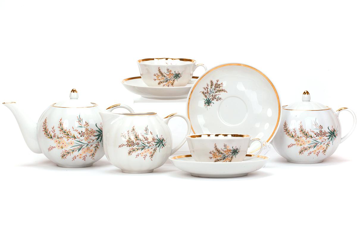 Фото Сервиз чайный Дулево Тюльпан Нина, 15 предметов