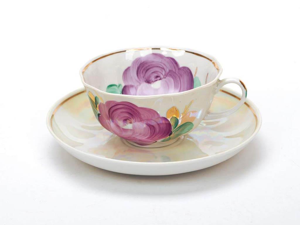 Фото Сервиз чайный Дулево Тюльпан Свадебный, 15 предметов