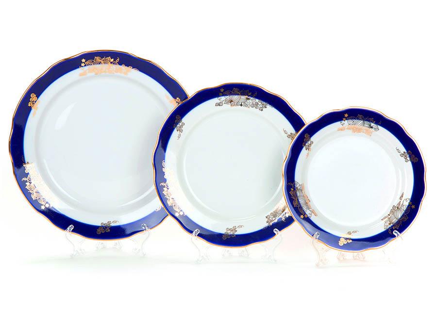 Фото Набор тарелок Вырезной край Ягоды, 18 предметов на 6 персон