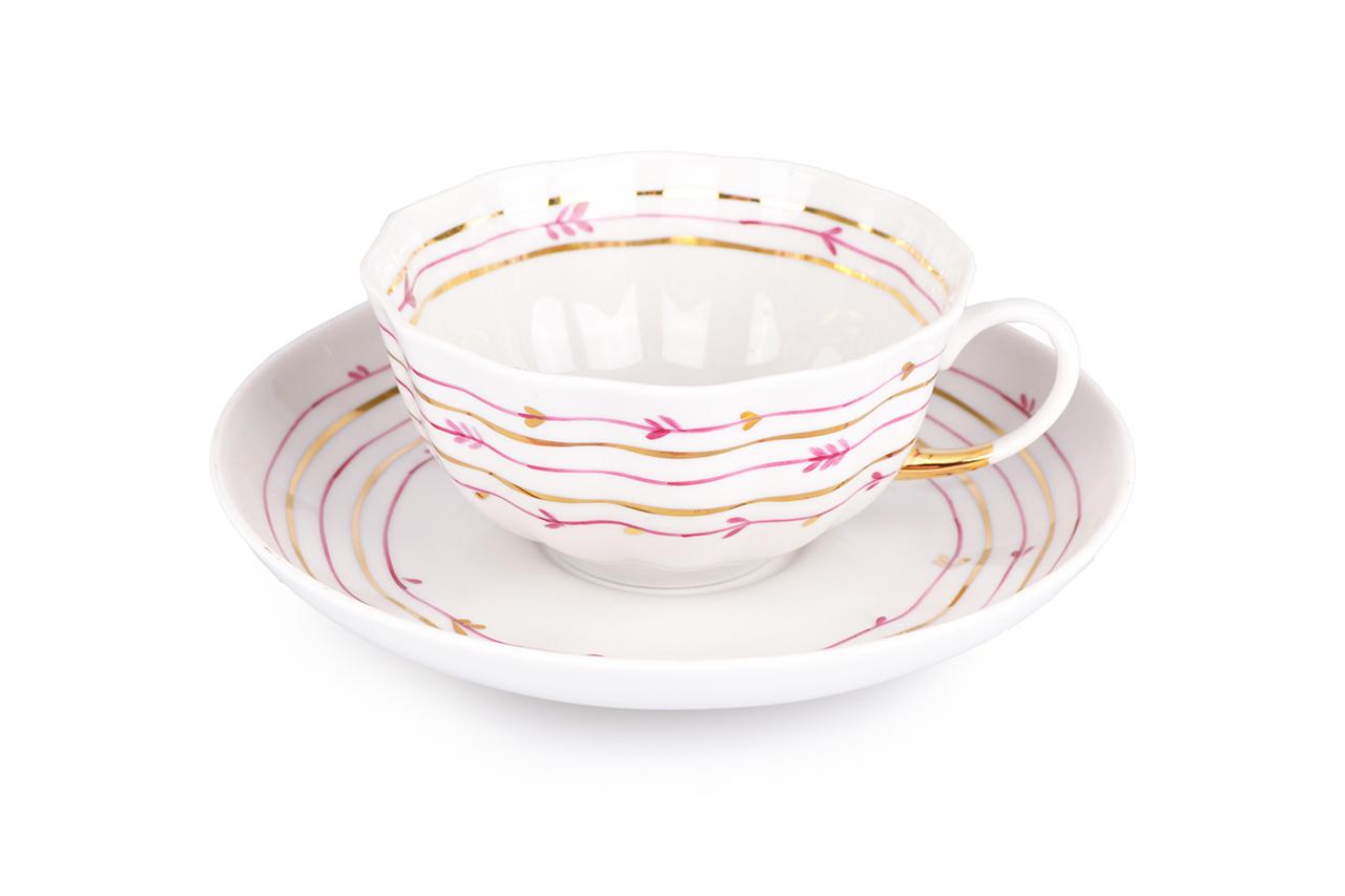 Фото Сервиз чайный Дулево Тюльпан Нежный, 15 предметов