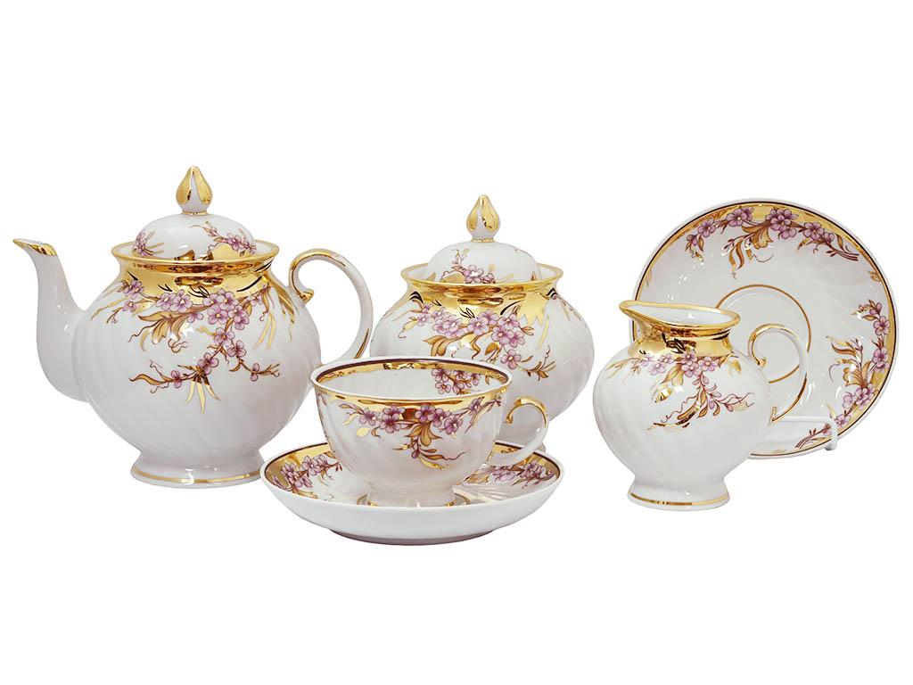 Фото Сервиз чайный Дулево Голубая роза Праздничный, 15 предметов