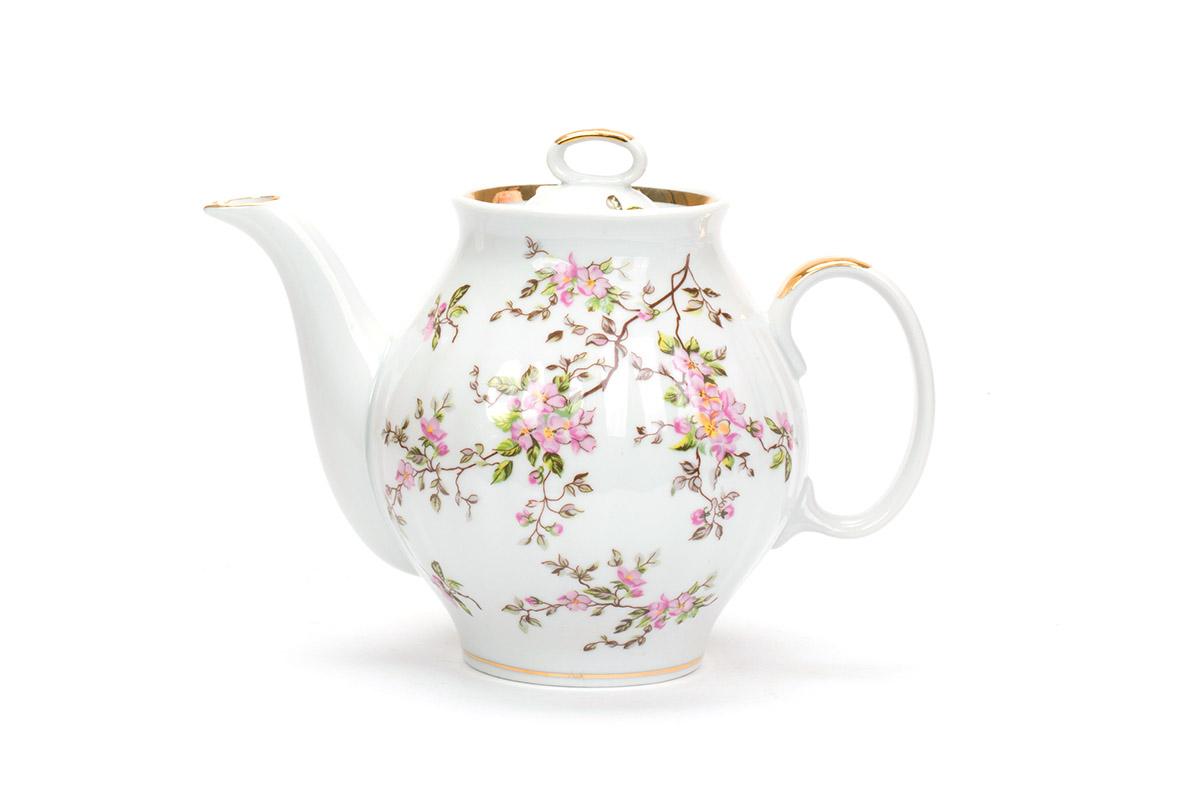 фарфор вербилок сервиз чайный голубой