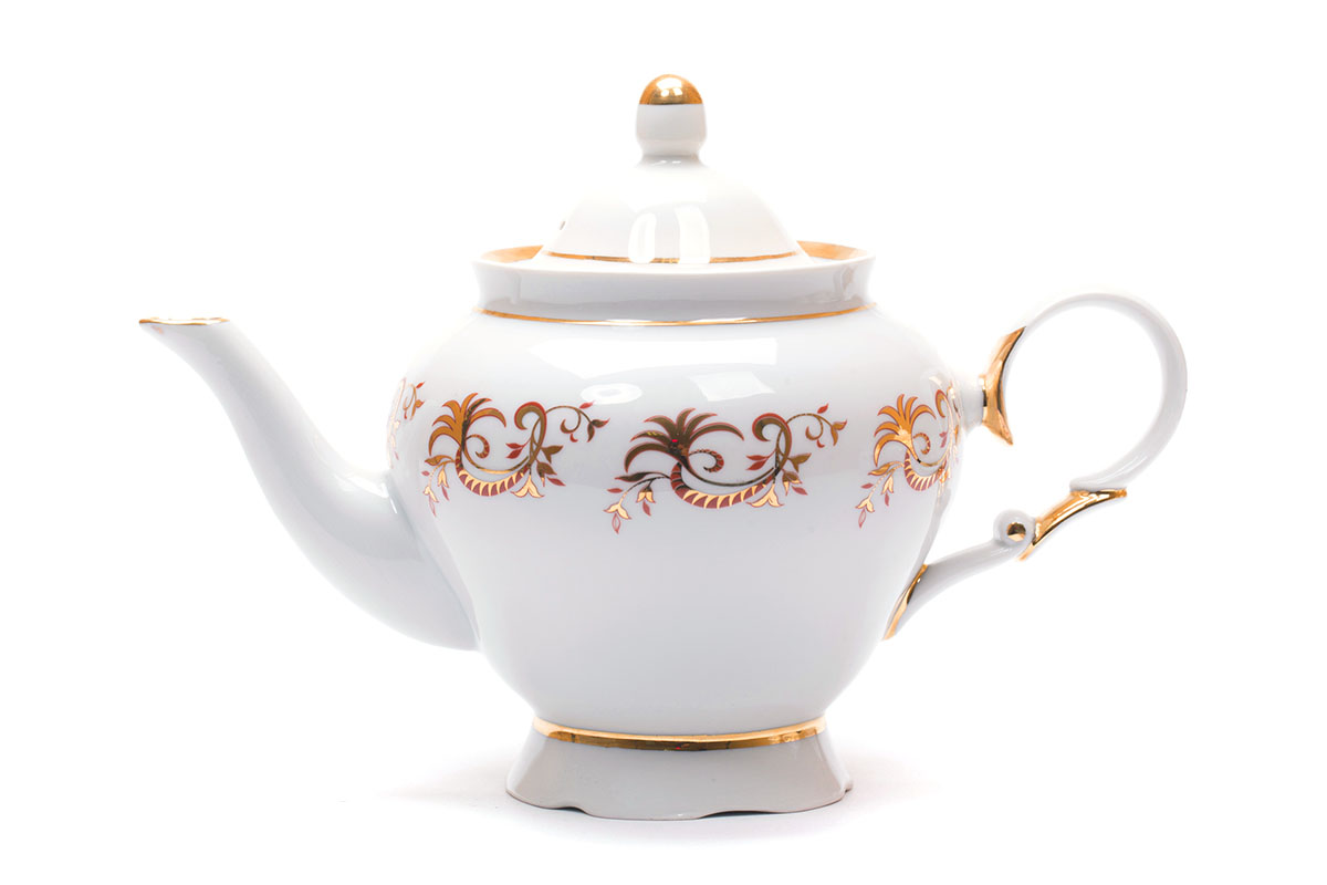 Фото Сервиз чайный Дулево Агат Золотой узор, 15 предметов