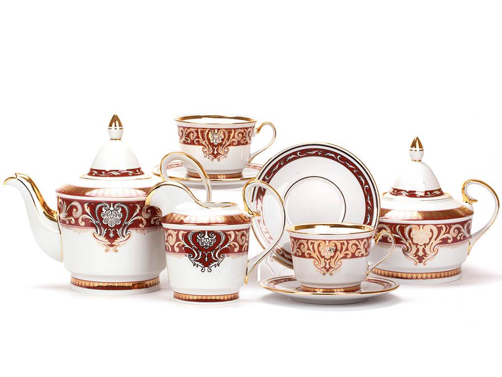 Фото Сервиз чайный Дулево Классический Подарочный, 15 предметов