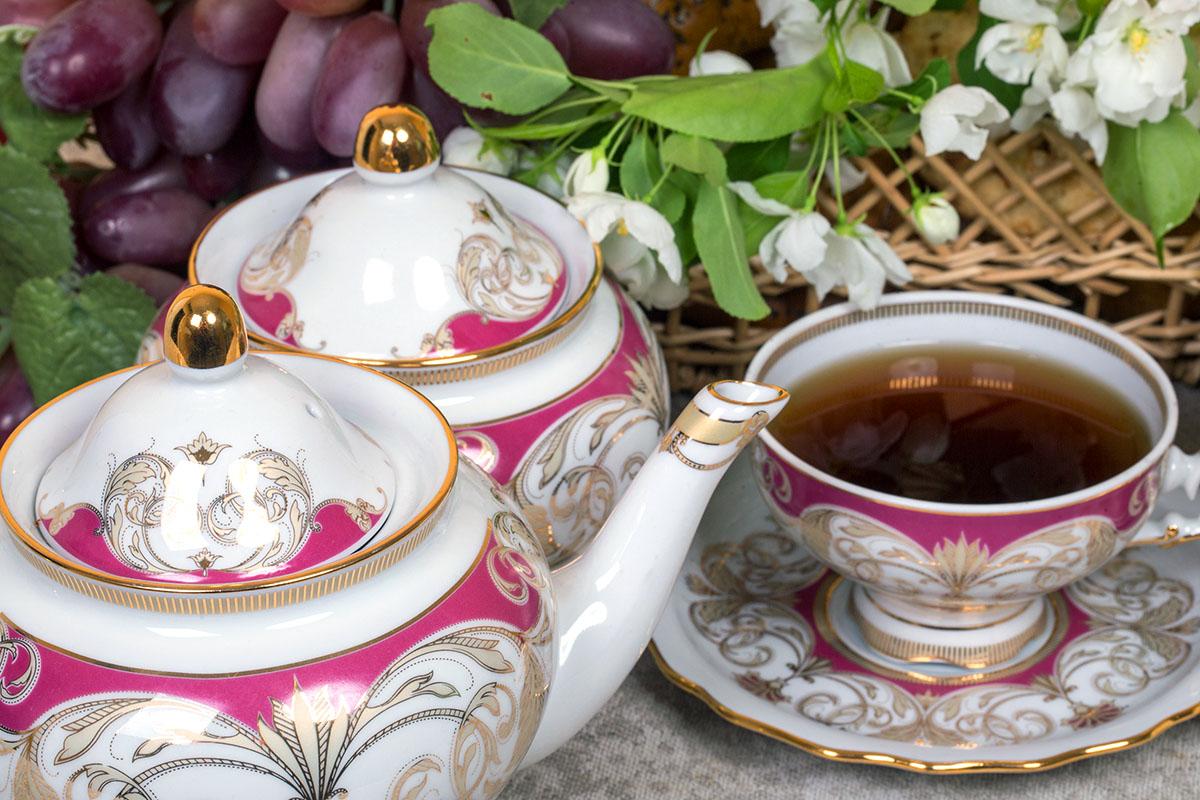 Фото Сервиз чайный Дулево Агат Президент, 15 предметов
