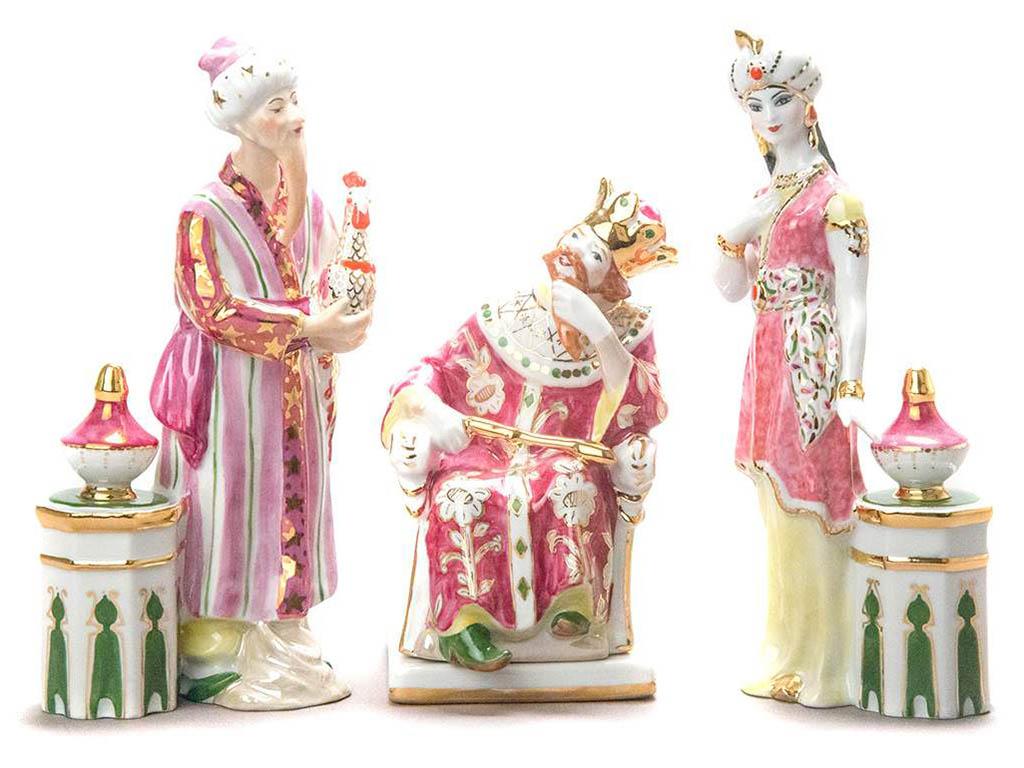 Фото Скульптура Триптих Золотой петушок