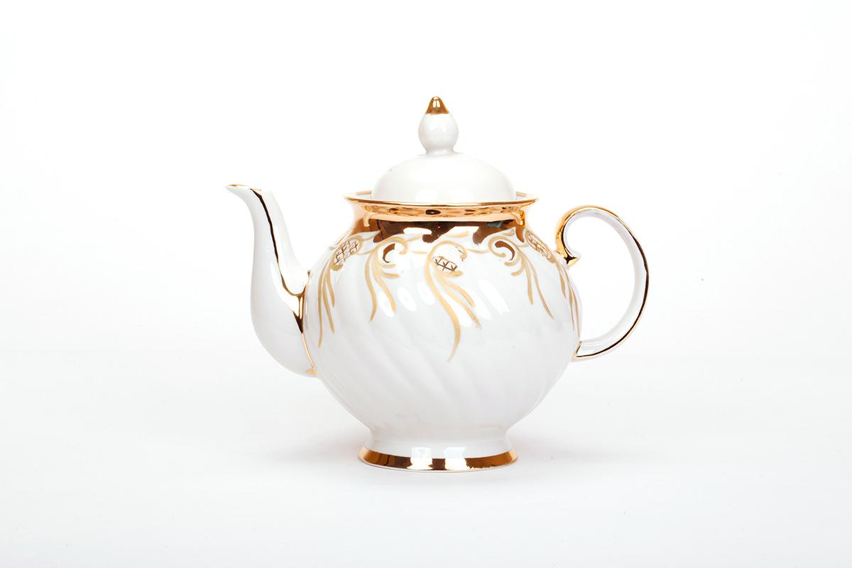 Фото Сервиз чайный Дулево Голубая роза Золотистый, 15 предметов