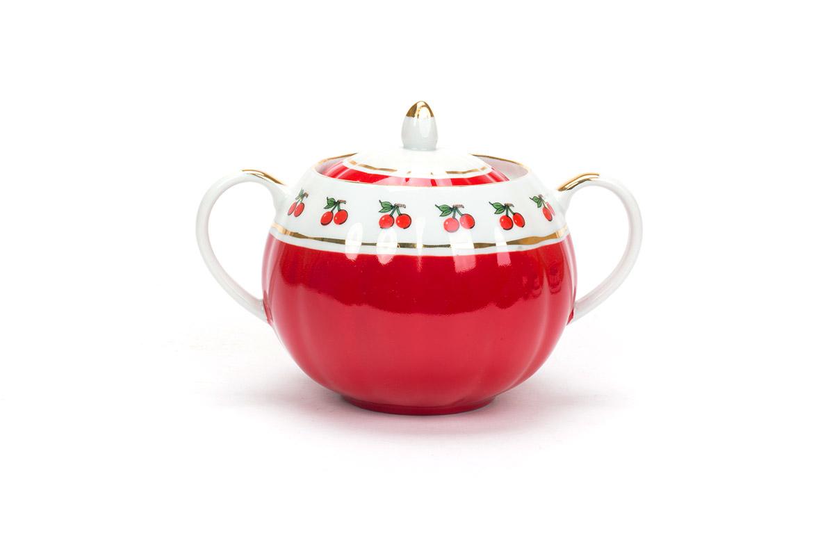 Фото Сервиз чайный Дулево Тюльпан Брусничка, 15 предметов