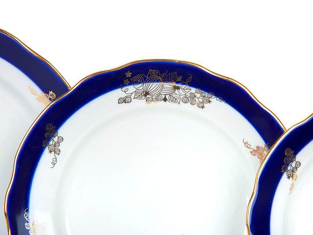 Фото Набор тарелок Дулево Ягоды, Вырезной край 24 шт