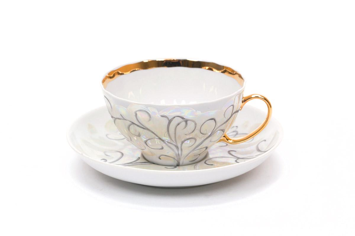 Фото Сервиз чайный Дулево Белый лебедь Морозко, 15 предметов
