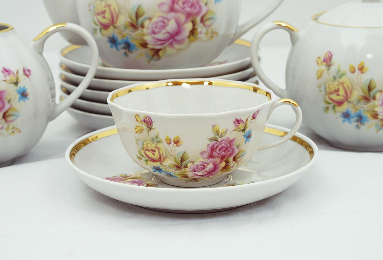 Фото Сервиз чайный Дулево Тюльпан Сесиль, 15 предметов