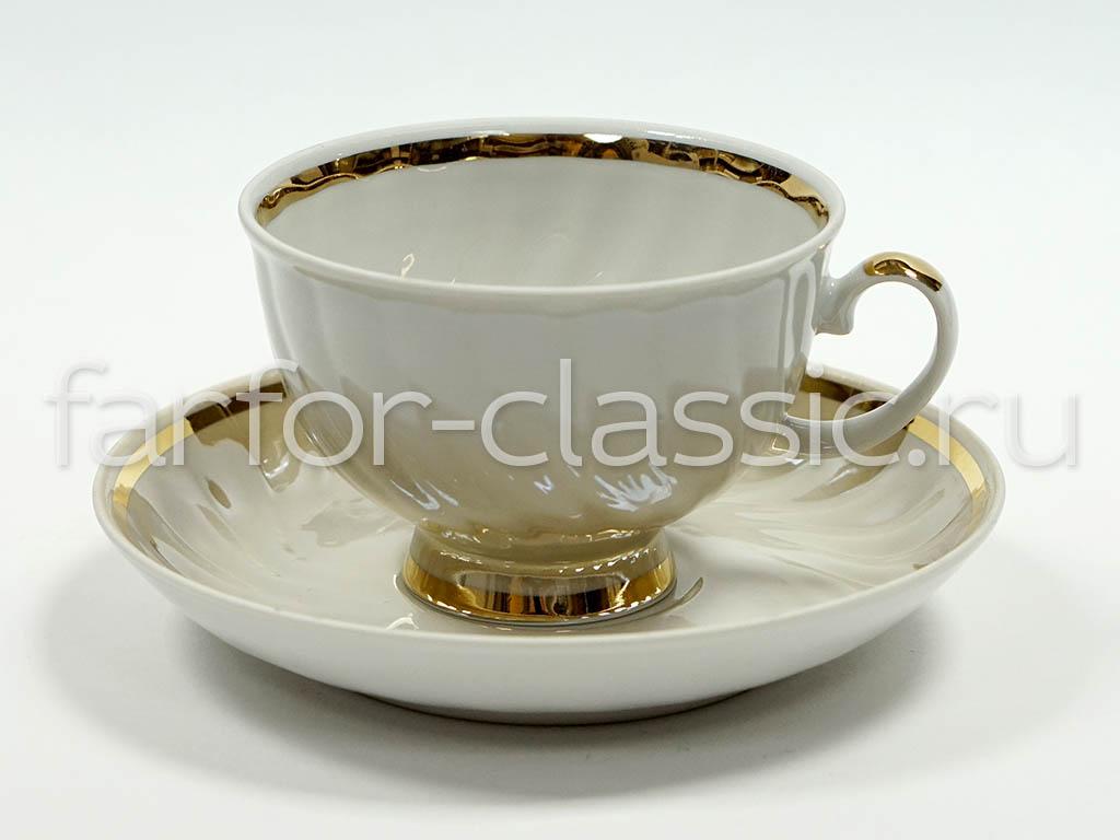 Фото Сервиз чайный Дулево Голубая роза Крытьевой, 15 предметов