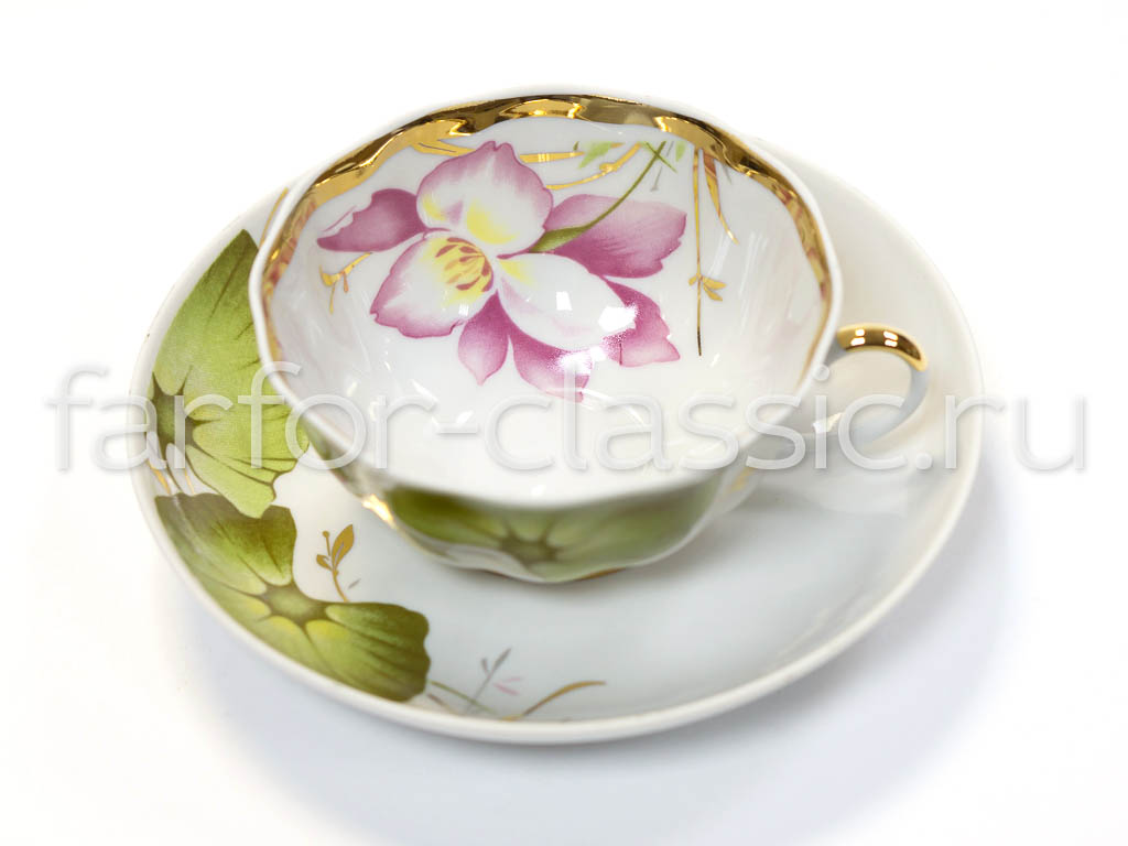 Фото Набор чайных пар Дулево Тюльпан Июнь 6 шт