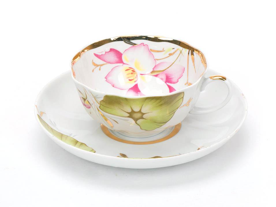 Фото Чашка чайная с блюдцем 200 мл Тюльпан Июнь