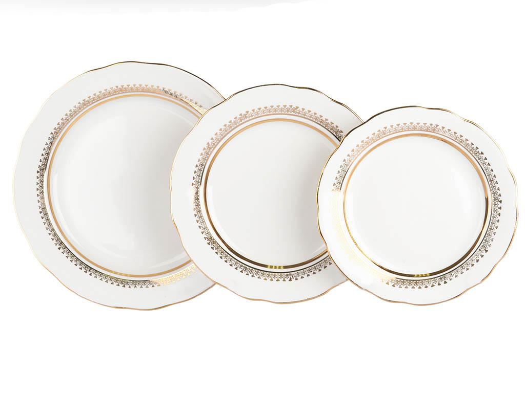 Фото Набор тарелок Дулево Классический, Вырезной край 18 шт