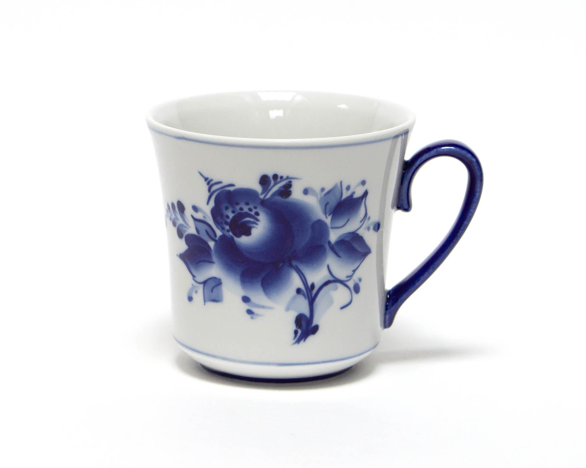 Фото Набор детской посуды Гжель Лисичка 3 предмета с миской
