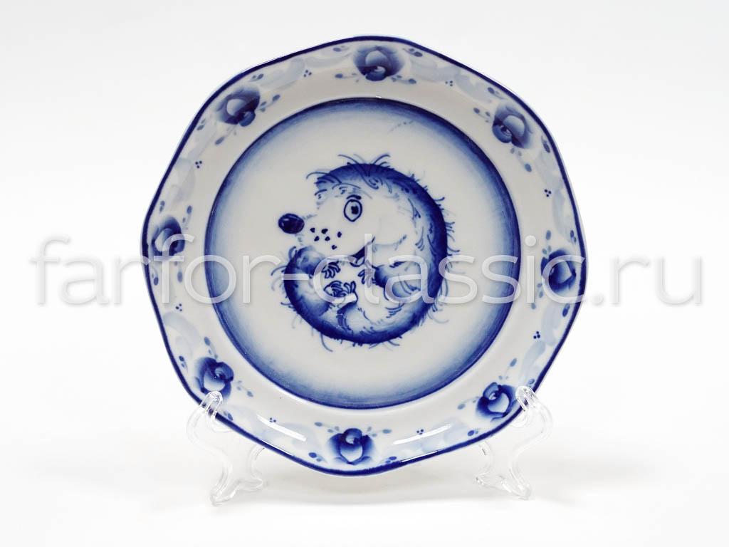 Фото Набор детской посуды Гжель Ежик 3 предмета