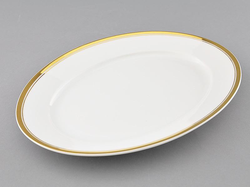 Фото Блюдо овальное 32 см, Форма Сабина Золотая лента