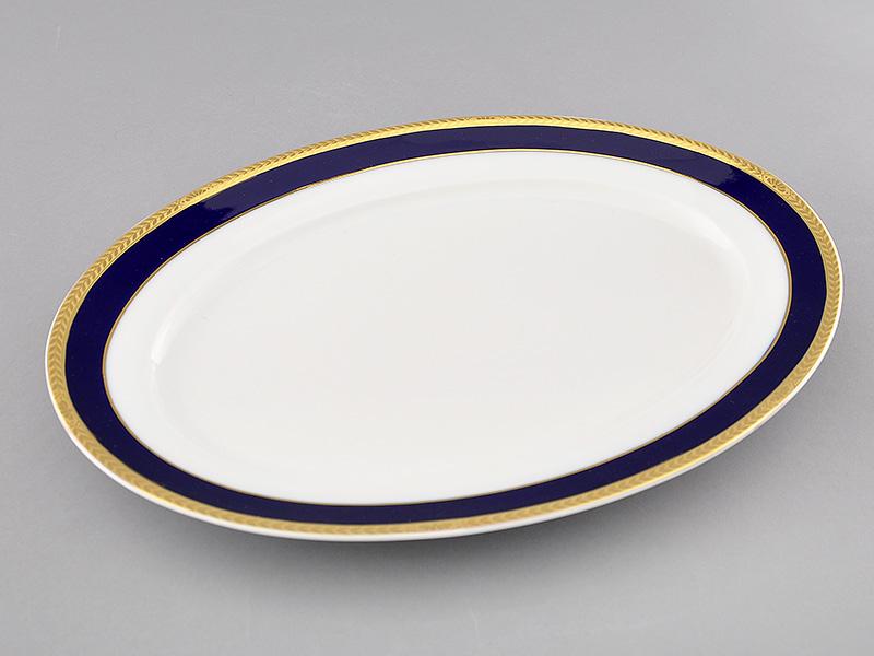 Фото Блюдо овальное 35 см, Форма Сабина Золотой колос