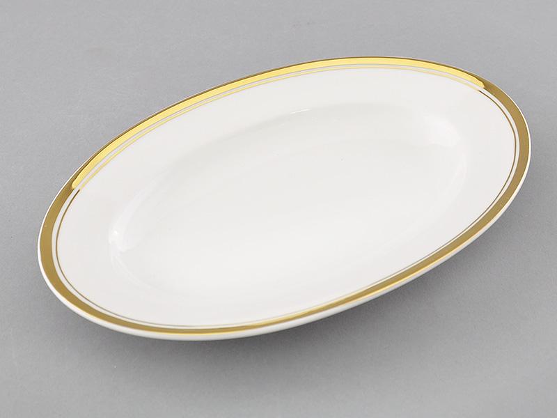 Фото Блюдо для гарнира овальное 22 см, Форма Сабина Золотая лента