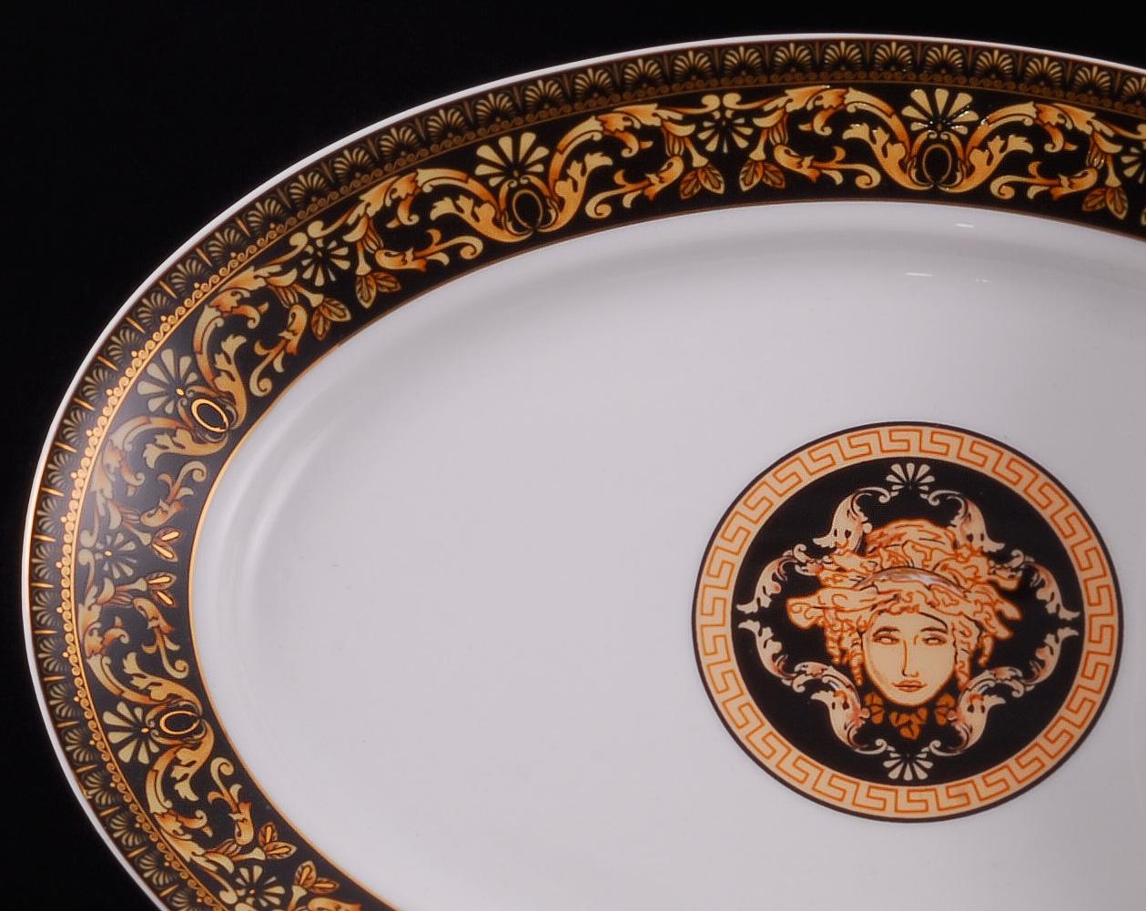 Фото Блюдо для гарнира овальное 22 см, Форма Сабина Флоренция антик
