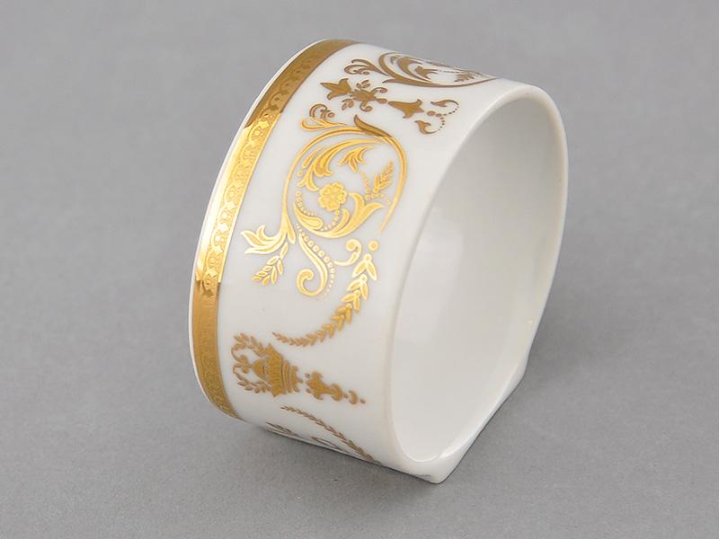 Фото Кольцо для салфеток Леандер Форма Сабина Королевский золотой