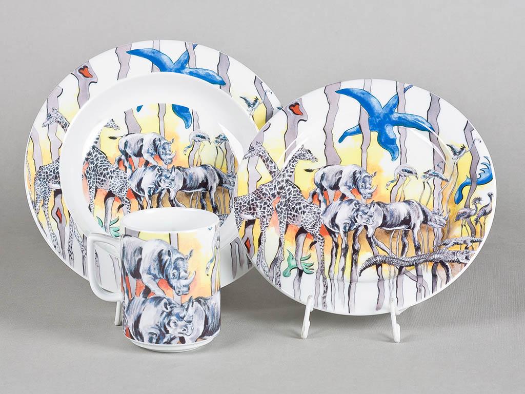 Фото Детский набор посуды Сафари, 3 предмета Африка