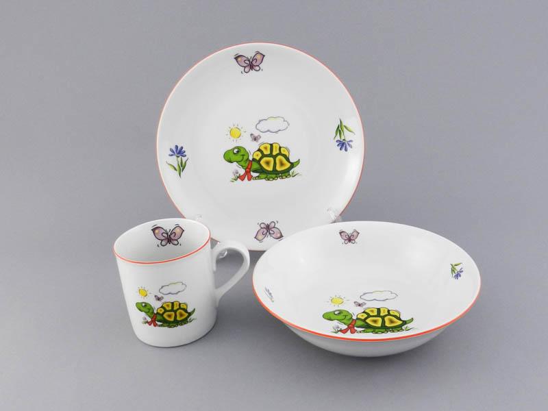 Фото Детский набор посуды Черепашка, 3 предмета