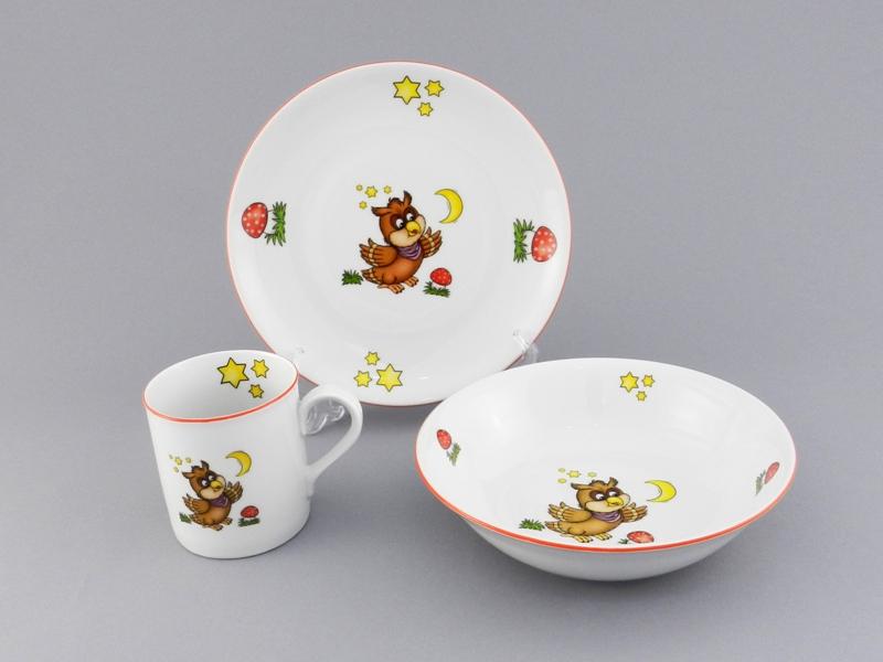 Фото Детский набор посуды Совенок, 3 предмета