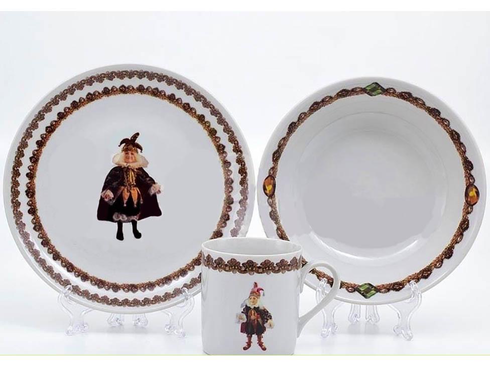 Фото Детский набор посуды Арлекино, 3 предмета