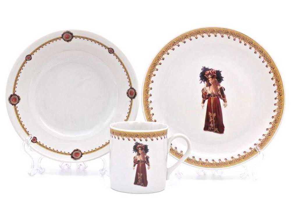 Фото Детский набор посуды Княжна, 3 предмета