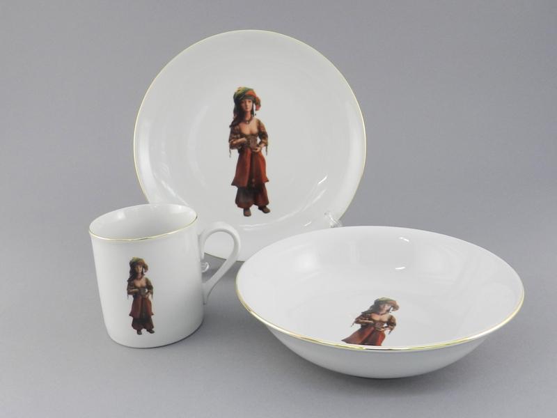 Фото Детский набор посуды Жасмин, 3 предмета