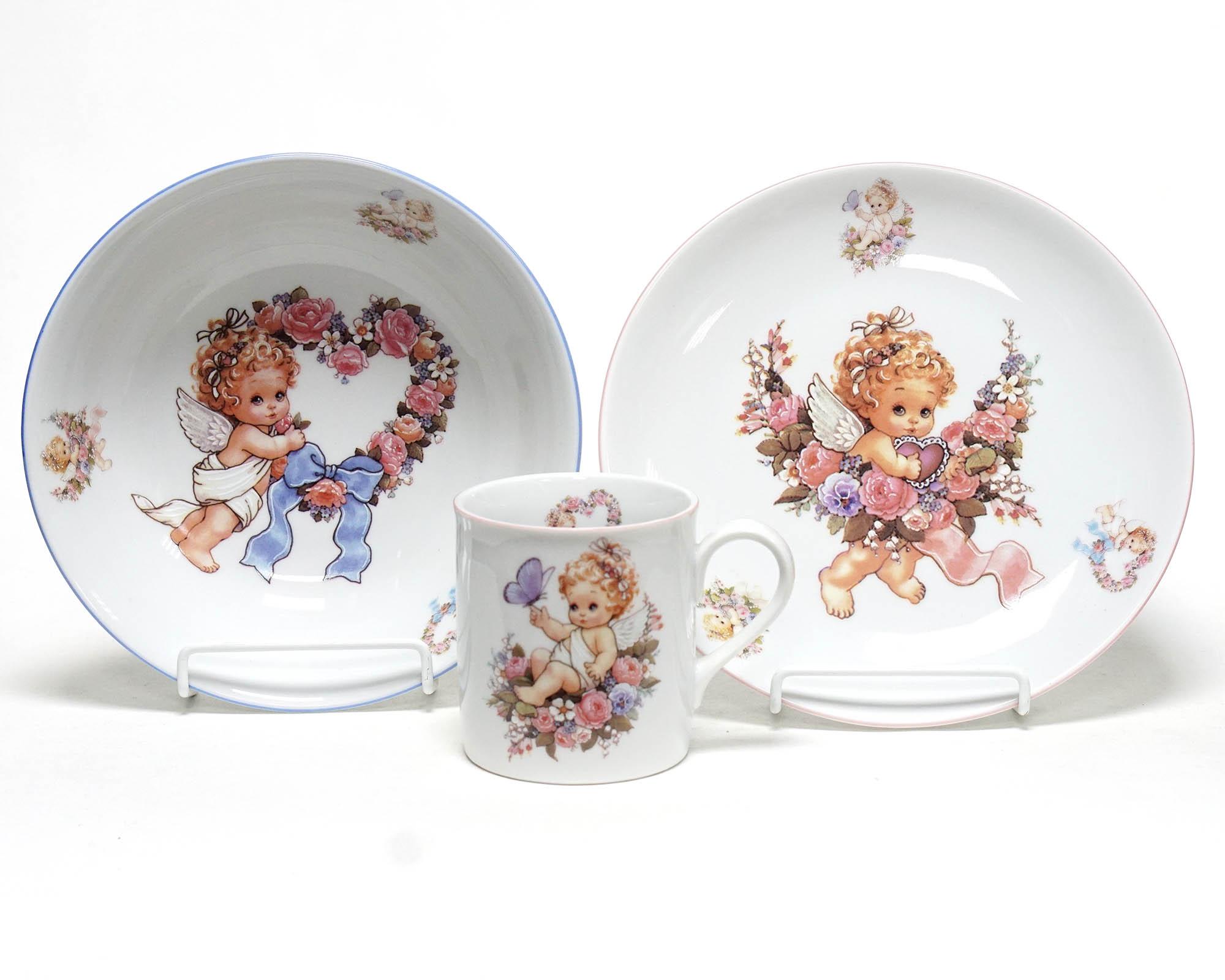 Фото Детский набор посуды Ангелок, 3 предмета