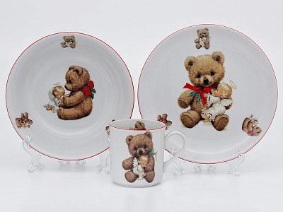 Фото Детский набор посуды Тедди, 3 предмета