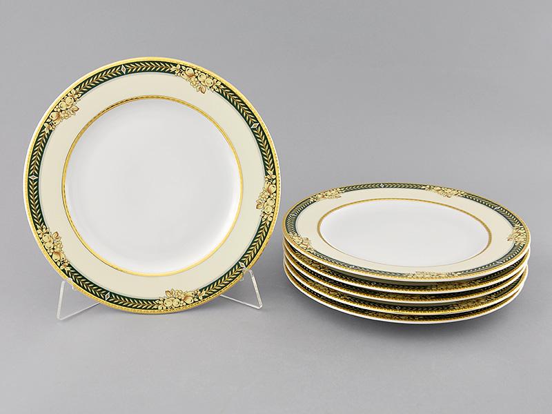 Фото Набор тарелок мелких Леандер 25 см 6 шт, Форма Сабина Фруктовый сад