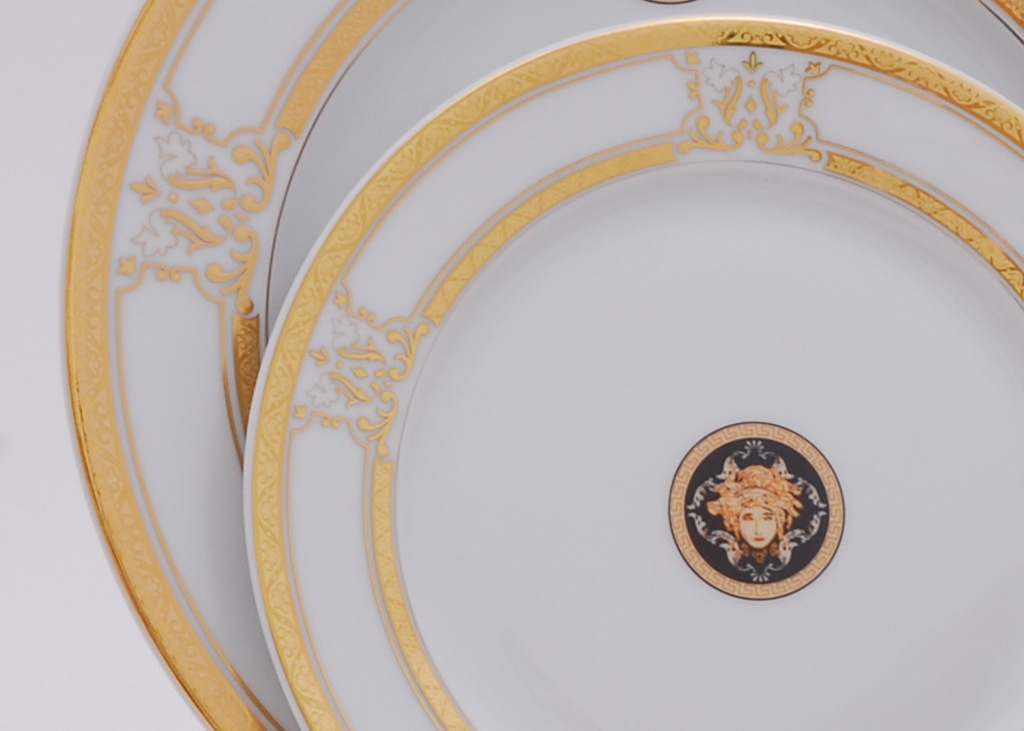 Фото Набор тарелок мелких Леандер 25 см 6 шт, Форма Сабина Венеция антик