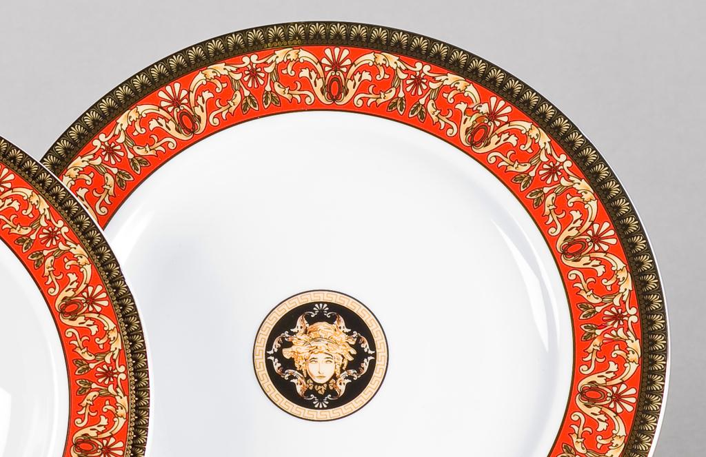 Фото Набор тарелок мелких Леандер 25 см 6 шт, Форма Сабина Милан антик