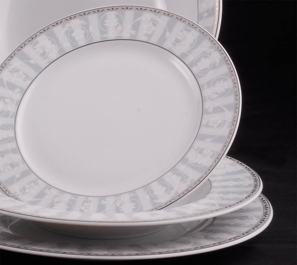Фото Набор тарелок Леандер 18 предметов с десертной тарелкой 19 см, Форма Сабина Уэльс