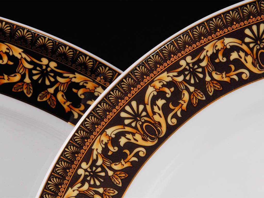 Фото Набор тарелок Леандер 18 предметов с десертной тарелкой 19 см, Форма Сабина Флоренция антик