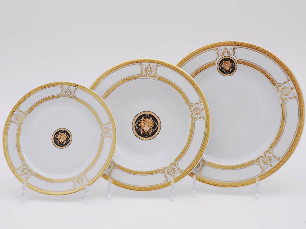 Фото Набор тарелок Леандер 18 предметов с десертной тарелкой 19 см, Форма Сабина Венеция антик