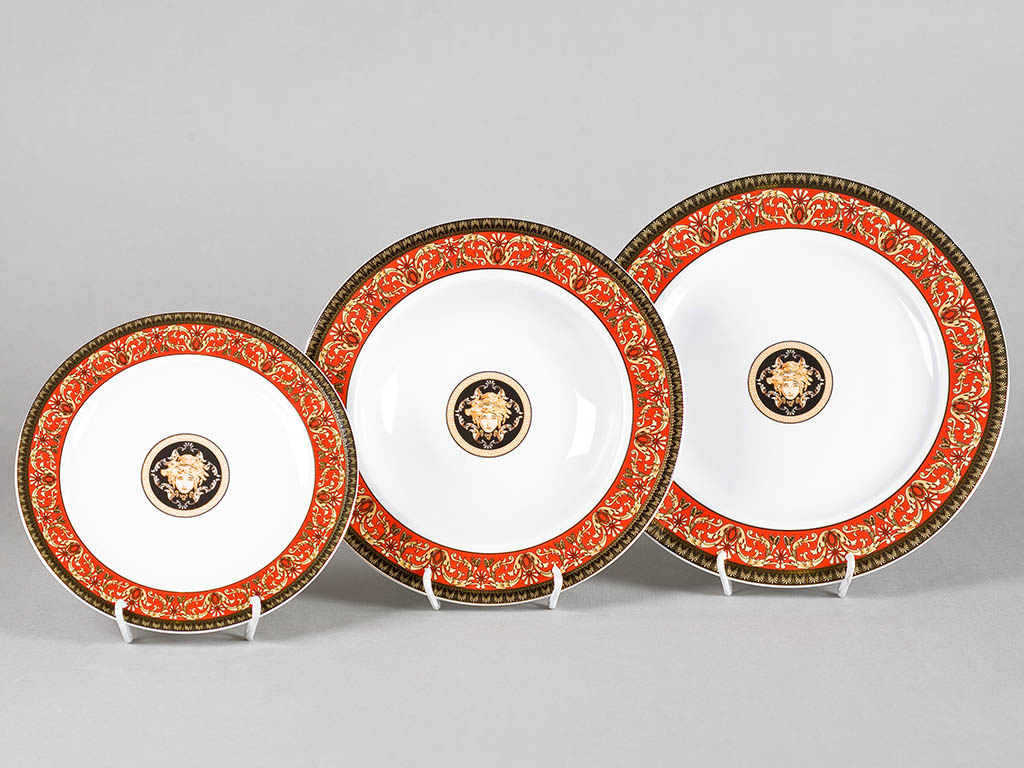 Фото Набор тарелок Леандер 18 предметов с десертной тарелкой 19 см, Форма Сабина Милан антик