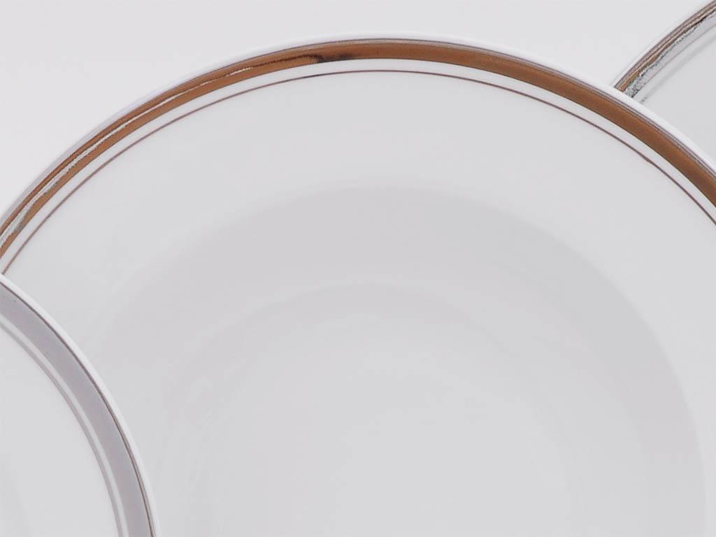 Фото Набор глубоких тарелок Леандер 23 см 6 шт, Форма Сабина Айсберг