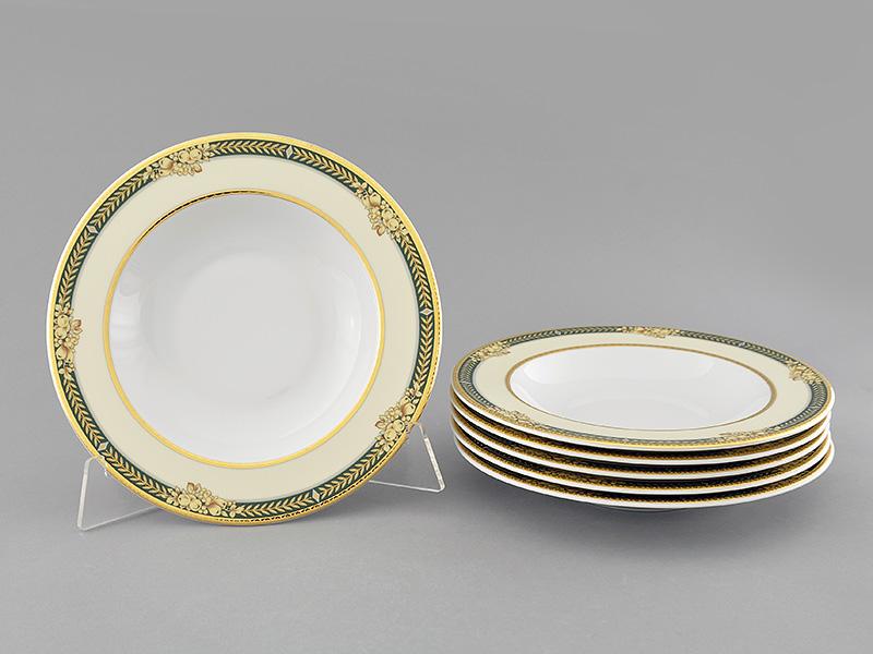 Фото Набор глубоких тарелок Леандер 23 см 6 шт, Форма Сабина Фруктовый сад