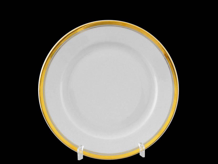Фото Набор десертных тарелок Леандер 17 см 6 шт, Форма Сабина Золотая лента