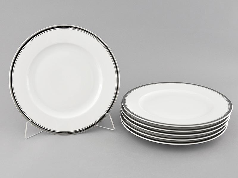 Фото Набор десертных тарелок Леандер 19 см 6 шт, Форма Сабина Айсберг