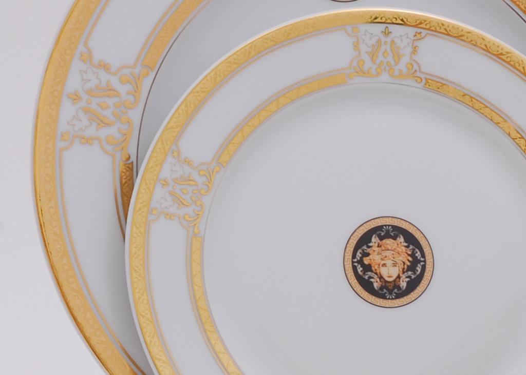 Фото Набор десертных тарелок Леандер 19 см 6 шт, Форма Сабина Венеция антик