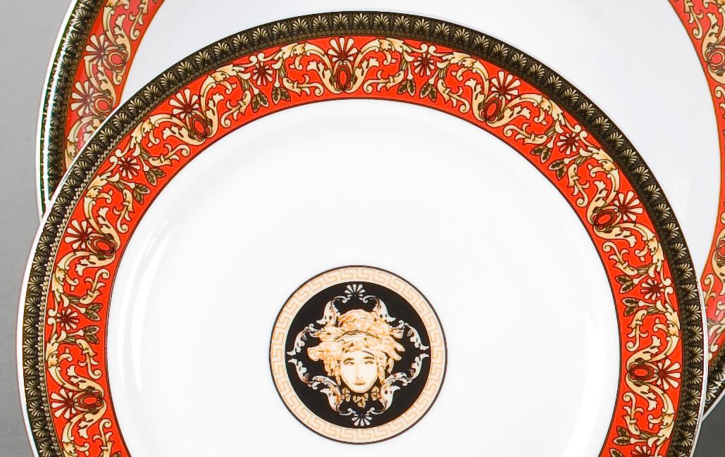 Фото Набор десертных тарелок Леандер 19 см 6 шт, Форма Сабина Милан антик