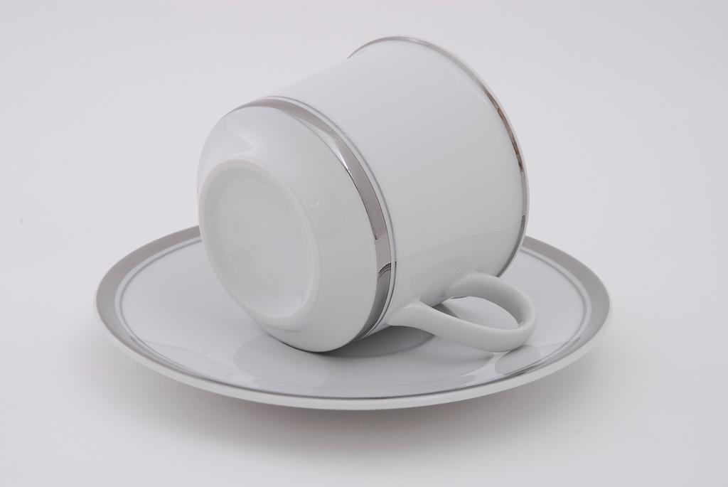 Фото Набор чашек высоких с блюдцем 100 мл, 6 шт Форма Сабина Айсберг