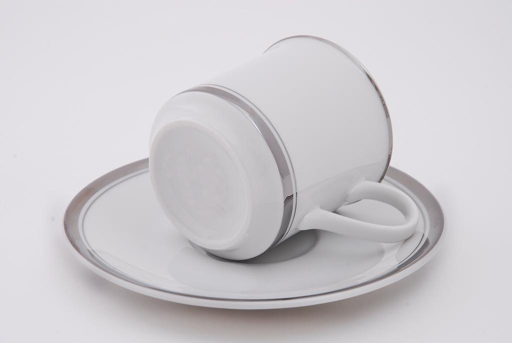 Фото Набор чашек кофейных с блюдцем 150 мл, 6 шт Форма Сабина Айсберг