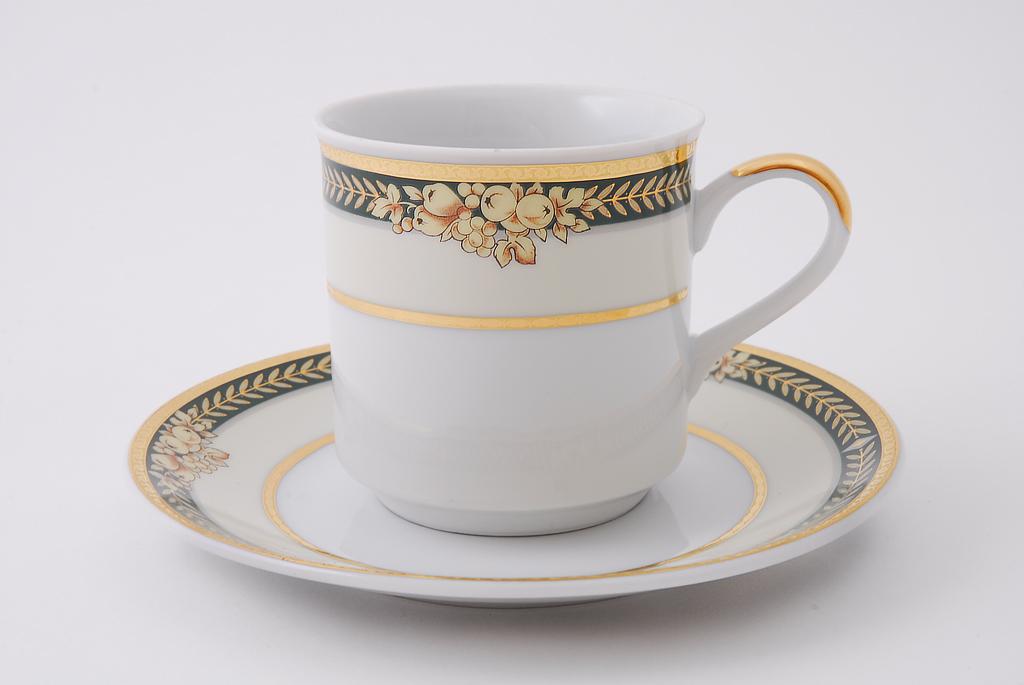 Фото Набор чашек кофейных с блюдцем 150 мл, 6 шт Форма Сабина Фруктовый сад